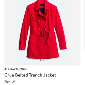 Stitch Fix -new with tags Red Trench M